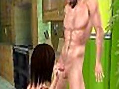 Foxy 3D home made house keeper sex brunette hottie giving a handjob