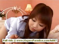 Risa Kasumi sex in wash rooms shota girl babe does blowjob