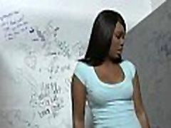 Black whore gloryhole initiating - video 29