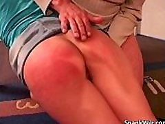 Sexy blonde gets her hot butt spanked