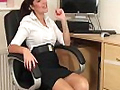 SoloInterviews Hot ass office girl Ava riding creampie pov masturbates