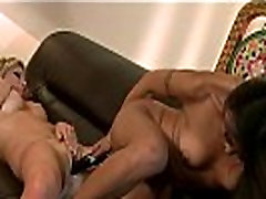 Asian babe &amp her busty blonde GF spend the day playing with toys