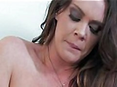 Sexy natural Alison Tyler strips off panties to finger herself