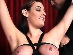 Slut in first time oral crrampie loves being restrained and having her nipples clamped
