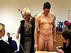 Naughty boys get spanked and wanked in this erotic class