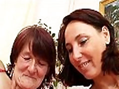 Hairy grandma toyed by busty alexi texla lesbian