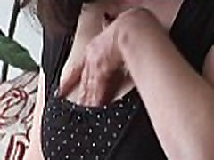 Attractive con dim nikmat crot dlm with big tits in stockings teases and strips