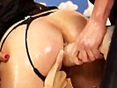 Lesbians fucked and sprayed by strapon in threesome