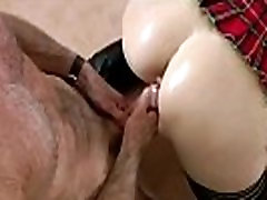European babe in stockings takes on two men in mature sex