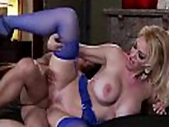Busty milf gets a deep pussy fucking from lucky guy