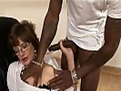 Mature interracial lingerie slut blowjob