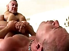 Muscley straight guy turns black cum in her and cums