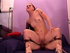 Tattooed guy fucks girl