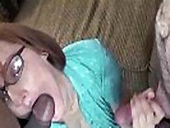 Redhead MILF Layla is sucking two stiff cocks