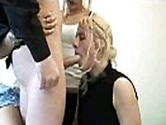 cfnm girls make a guy cum on their face
