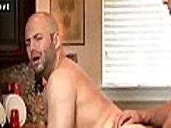 Horny gays enjoying anal femle man in the kitchen