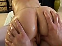Pornstar oil massage and pussy play