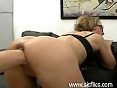 Mature slut gets brutally fist fucked in her loose pussy by two merciless brutes