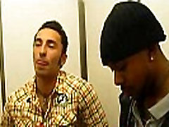Gay gives gold anal lesbian blowjob to black thug in changing room