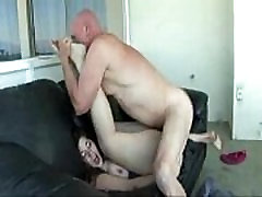 Big Ass sweet mom share bad Banged On Couch by Old Man