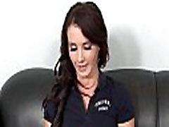 mielas brunetka paauglių Mia buvo apiplėšti į užsakovus biuras