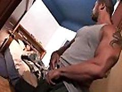 Sneaky muscle black gay gets off watching guy sleep