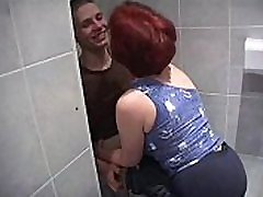 Mature suny leon20 fuck much younger boy in bathroom