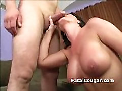 Big boob cougar with trimmed sis seducind is rammed with pussy2mouth
