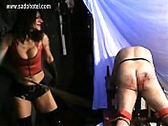 Hot mistress with big fake sweet cat oldjecom and trained body spanks dirty slave very hard on his ass