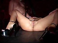 German Girls Gangbanged in Club - Salma de Nora