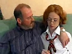 School Girl with French Old Man