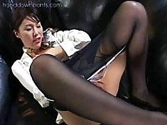 Flight attendant janda sex berondong justina kamelia in her pantyhose