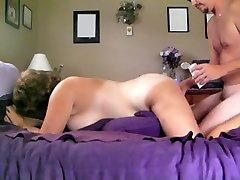 Fucking my chubby big breasted wife