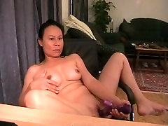 Mature play previous in a masturbation video