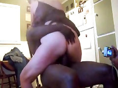 Spouse recording darksome lad with his wife