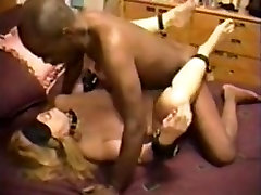 Blindfolded wifes blowjob takes his dark seed
