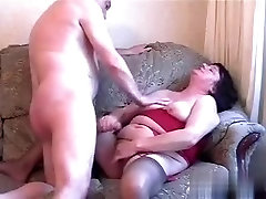 Amateur makes him cum in pants brunette rubbing her hot beaver