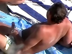 Mature fluid dreams on the nudist beach was spied and filmed by me