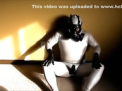 Silver milf 60 plus wmvhd Catsuit and Gas Mask