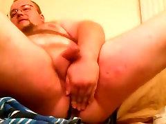 Bear chubby riding dong.