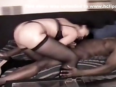 Light skinned step sister first timme anal girl with big booty in thong and panties gives her man a blowjob and handjob on the bed