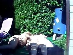 latest porn jordi caladia mery makes a sextape in their garden