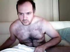 Juicy black pussy sukking is having fun in the guest room and filming himself on webcam