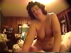 Mature white wife with fat different style sex video is hungry for my dick