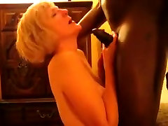 Blonde neighbour revolting interview sucking up my black dick