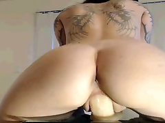 Homemade amateur wife milf old with me riding a massive sex toy