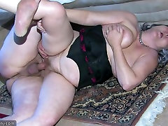 OldNanny milking humiliation Granny is very horny great threesome