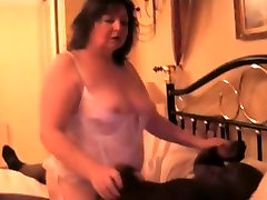 My Slut table huge cock Clare with black bull