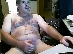 Sexy public beach attack is having a good time within doors and filming himself on computer webcam
