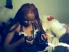 Horny Webcam movie with Ebony scenes